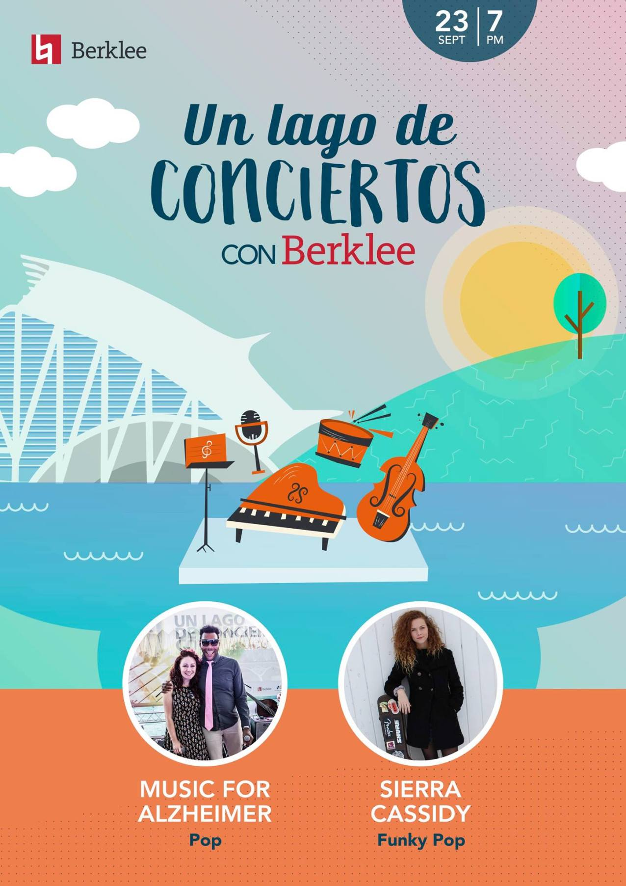 Performing as part of Music Therapy Week at Un Lago De Conciertos, Berklee Valencia