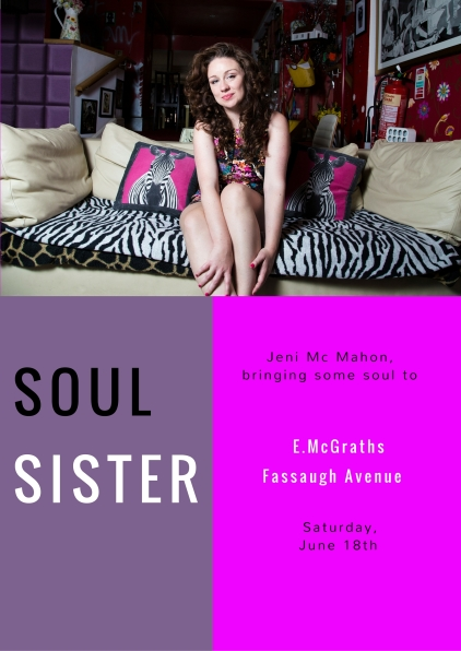 Solo show as 'Soul Sister'
